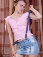 Russian hairy model Alesika