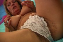 Hairy mature bitch shows off