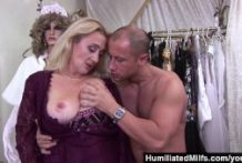 Lascivious milf gets her hairy pussy stuffed with cock
