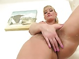 Hairy Blonde MILF in Bathroom